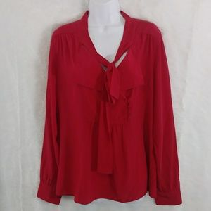 Red BCBG MaxAria Blouse